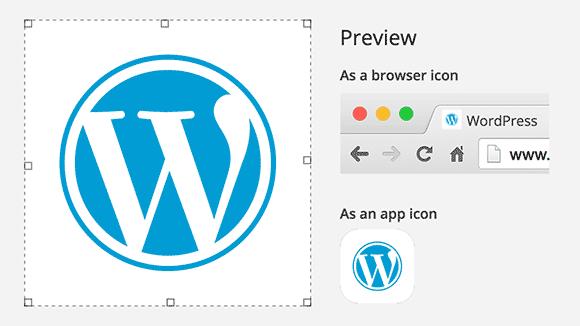 WordPress网站图标(徽标)